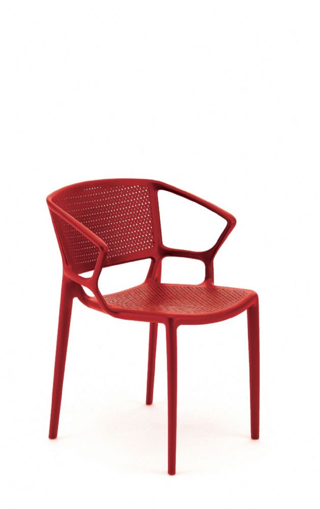 Pledge Daisy Stackable Four Leg Chair With Perforated Seat And Back